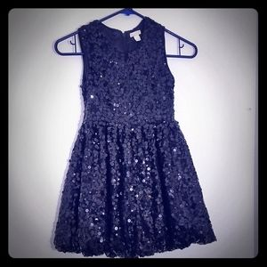 Children's place black sequins dress girls size 8